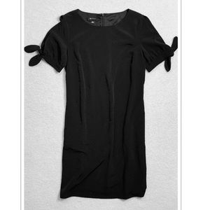 Black Shift Dress with tie sleeves